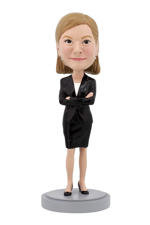 Custom Bobbleheads - Female Executive Body - Personalized Gifts