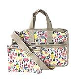 LeSportsac Medium Weekender Travel Duffel Bag, Summer Fruits