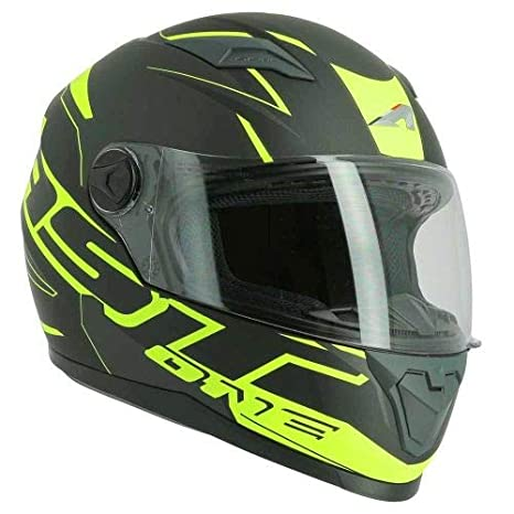 Black//yellow M Astone Helmets Casque int/égral en polycarbonate Casque id/éal milieu urbain Casque de moto int/égral GT2 Graphic One