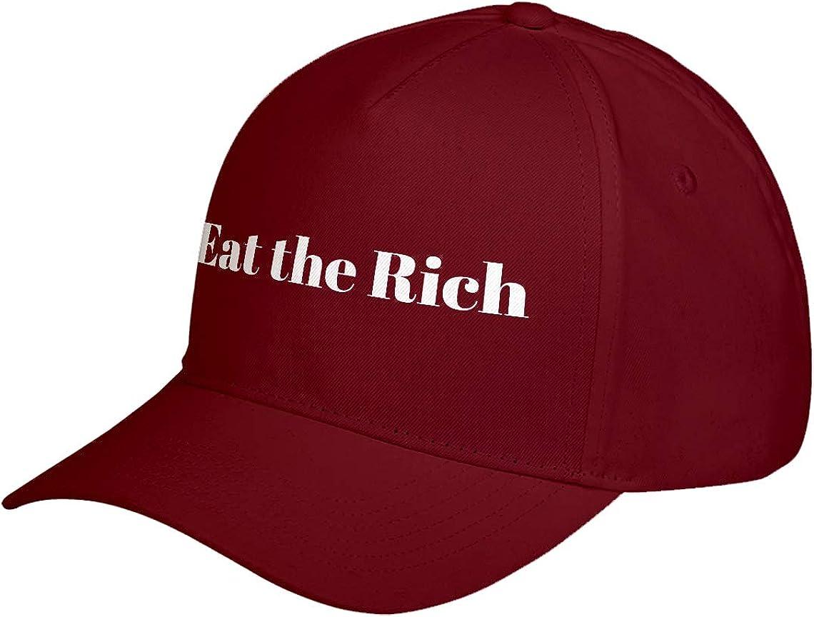 Hat Eat the Rich Adjustable Unisex Baseball Cap