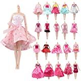 JING SHOW BUSSINESS Set of 10 HQ Handmade Dresses Accessory Clothes for 11-12 inch Fashionista Dolls