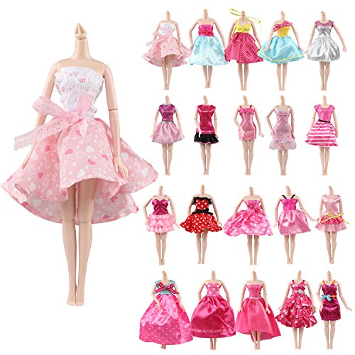 Farand Set of 10 HQ Handmade Dresses Clothes for 11-12 inch Barbie (Barbie Doll Costumes For Adults)