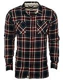 Vans Men's Birch L/S Woven Black/Redrum Button-up Shirt MD