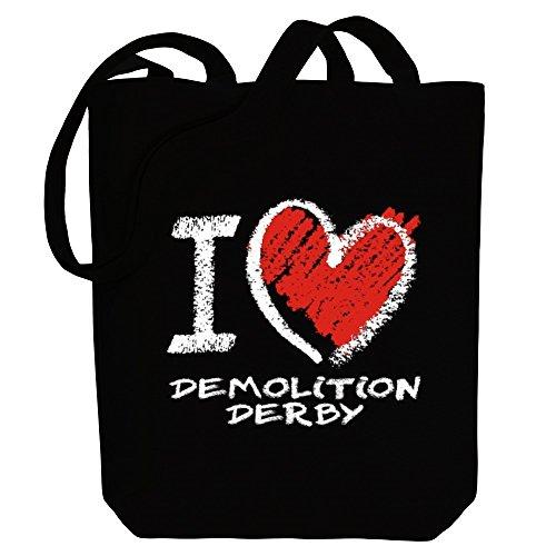 Idakoos I love Demolition Derby chalk style - Sport - Bereich für Taschen