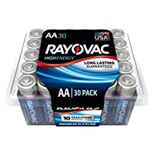 Rayovac 815-30PPT GENJ Alkaline AA Size High Energy Batteries, 30 Pack
