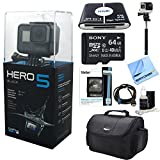 #8: GoPro HERO5 Black Action Camera Ready For Adventure Kit includes Camera, 64GB microSD Memory Card, Card Wallet, Card Reader, Camera Case, Selfie Stick, HDMI Cable, Cleaning Kit and Beach Camera Cloth