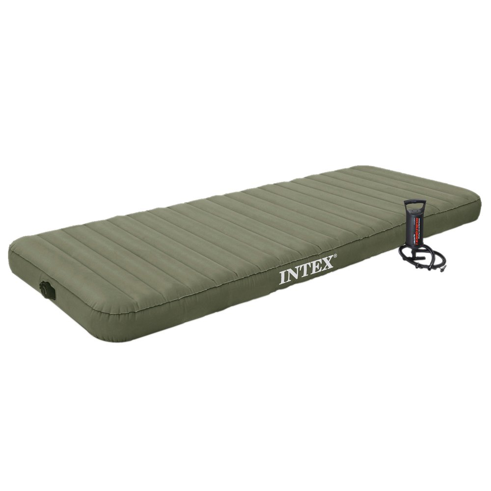 Intex 68711 Jr. Twin Roll'N Go Airbed inklusive Handpumpe, 76 x 191 x 15 cm