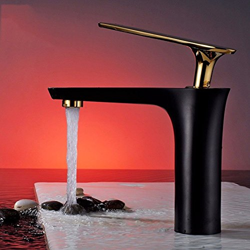 AWXJX Sink Taps bathroom copper Paint white Wash your face Seated Hot and cold Single hole ceramics