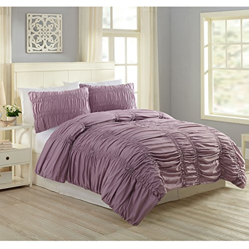 Modern Heirloom Collection A030114LAEFS Katarina Comforter Set, KING, Lavender, 3 Piece