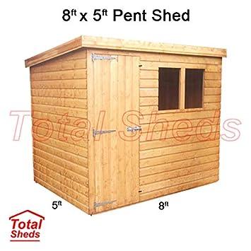 Cobertizo de madera para cobertizo de jardín de 2, 4 m x 1, 5 m, cobertizo total de cobertizos: Amazon.es: Jardín
