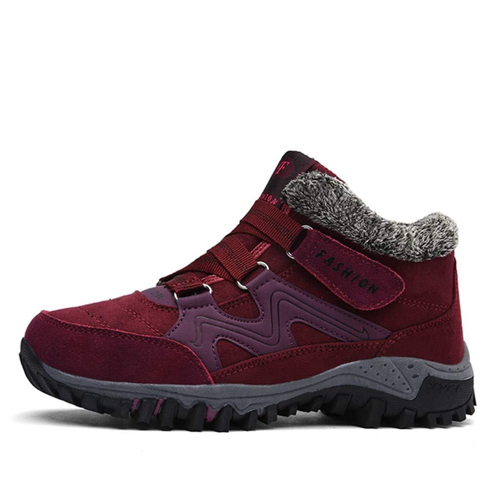 Qianliuk Frauen Schnee Stiefel warme Plüsch-KnöchelSchuhe weiblich hohe Keil Wasserdichte Winter Schuhe