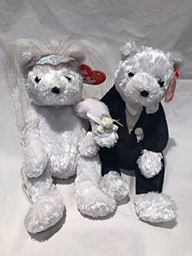 Ty Beanie Babies Bride Groom Plush Bear Dolls