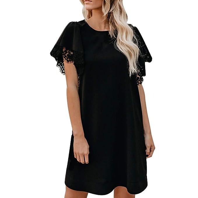 Amazon.com: ¿Vestido de playa? Vestido corto de tres cuartos ...