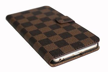Amazon Com Luxury Famous Grid Leather Wallet Card Slot Cash Flip