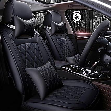 Pegasus Premium Black Pu Leather Car Seat Cover For Hyundai Xcent