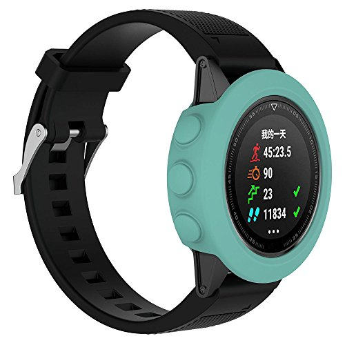 Price comparison product image Sunbona Garmin Fenix Watch Screen Protective Case,  Screen Protector Soft Silicone TPU All-Around Thicken Cover Casing Guard for Garmin Fenix 5 GPS Watch Band,  Anti-Fall,  Scratch Resistant (Green)