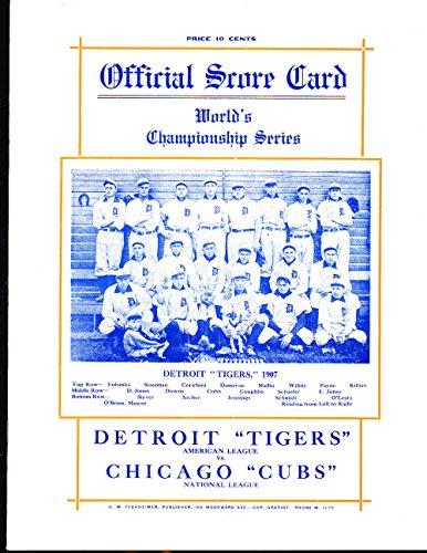 1907-Detroit-Tigers-vs-Chicago-Cubs-World-Series-Program-NM-Opie-Reprint