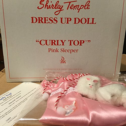 Shirley Temple Dress Up Doll Outfit - Curly TOp - Pink Sleeper