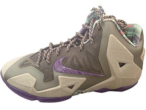 "Nike LeBron 11 XI ""Terracotta Warrior"" Basketball Shoes Grey/Purple 621712-003 (4.5Y)"