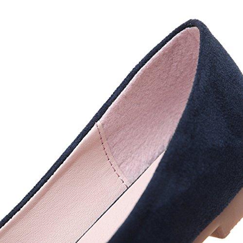 Bout Plates Avec Chaussures Pointu Dqq Nœud Marine Bleu Femme CHYx6xqWwt