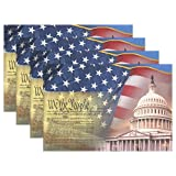 Patriotic Symbols of America Placemats Set of 6 for Kitchen Table Heat Resistant Washable Table Mats