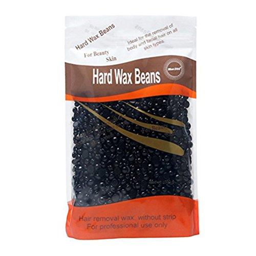 Healifty Hard Beans Depilatory Wax Beads Pearl Wax for Hair Removal for Body Underarm Bikini 300g (Black)