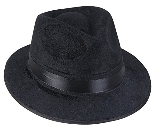 Black Fedora Gangster Hat Costume Accessory - Funny Party Hats¨