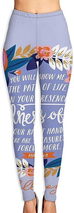 LVOE TTL Pantalones de Yoga para Mujer Versos de la Biblia ...