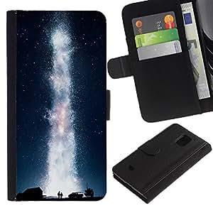 NEECELL GIFT forCITY // Billetera de cuero Caso Cubierta de protección Carcasa / Leather Wallet Case for Samsung Galaxy S5 Mini, SM-G800 // Galaxia Vía Láctea