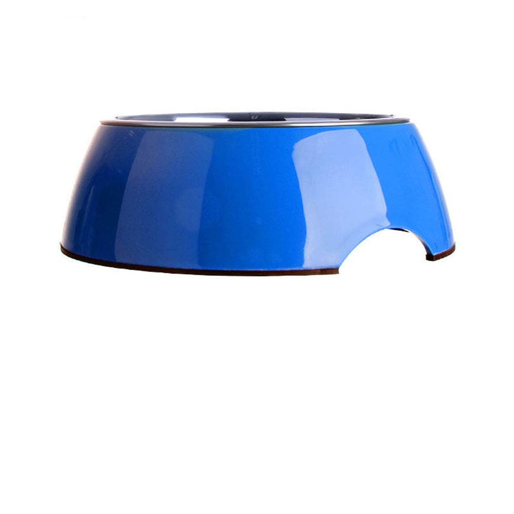 bluee WU-pet supplies Dog Bowl Dog Pot Stainless Steel cat Food Bowl pet Dog Single Bowl Rice Bowl Dog Food Bowl