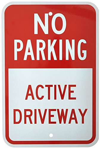 Red Parking Sign (SmartSign 3M Engineer Grade Reflective Sign, Legend