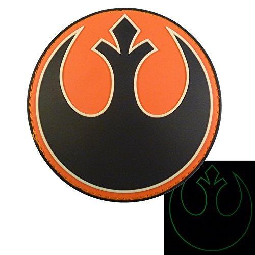 Glow Dark Rebel Alliance Star Wars GITD PVC Rubber 3D Red Rogue Squadron Fastener Patch