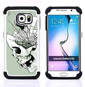 For Samsung Galaxy S6 G9200 - SPIDER SKULL HALLOWEEN DEATH METAL Dual Layer caso de Shell HUELGA Impacto pata de cabra con im??genes gr??ficas Steam - Funny Shop -