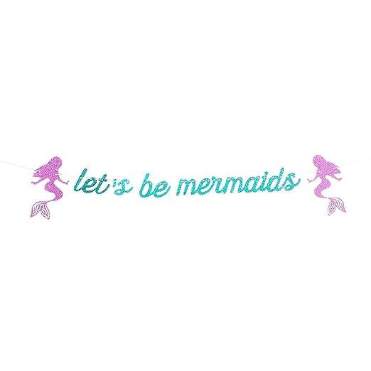 Welcometo Banner Bunting Sirena con Letras de Seamos Sirenas ...