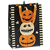 DII Cotton Halloween Holiday Candy Tote Gift Bag, 15x16x4'', Set of 3-Stack O' Jacks