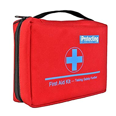 First Aid Kit 119 pcs - Emergency Survival Bag, Professional Design for Car, Home, Camping, Hunting, Travel , Outdoors or Sports, Small & Compact
