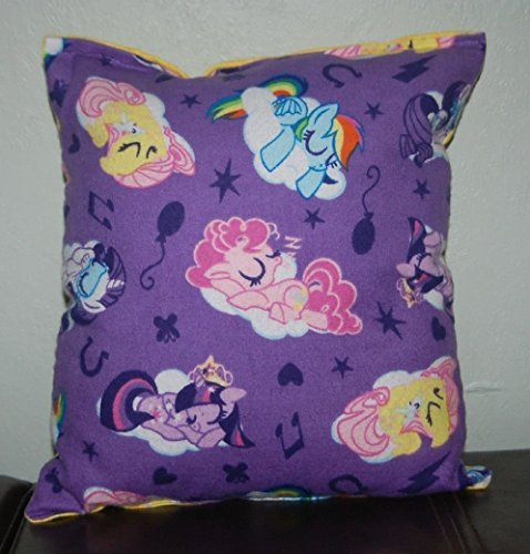 My Little Pony Pillow MLP Sleeping Pillow 10 inches by 11 inches Handmade Hypoallergenic Flannel with Flannel Backing Ideal for Gift and Multiple Uses -