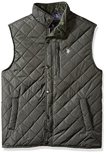 U.S. Polo Assn. Men's Diamond Quilted Vest, Dark Shadow, L - Diamond Mens Vest
