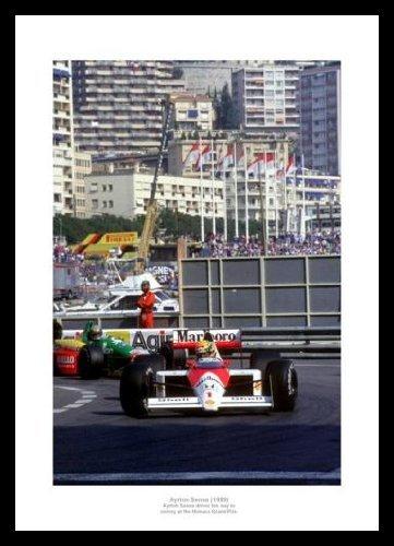 Ayrton Senna 1989 Monaco Grand Prix Formula One Photo Memorabilia