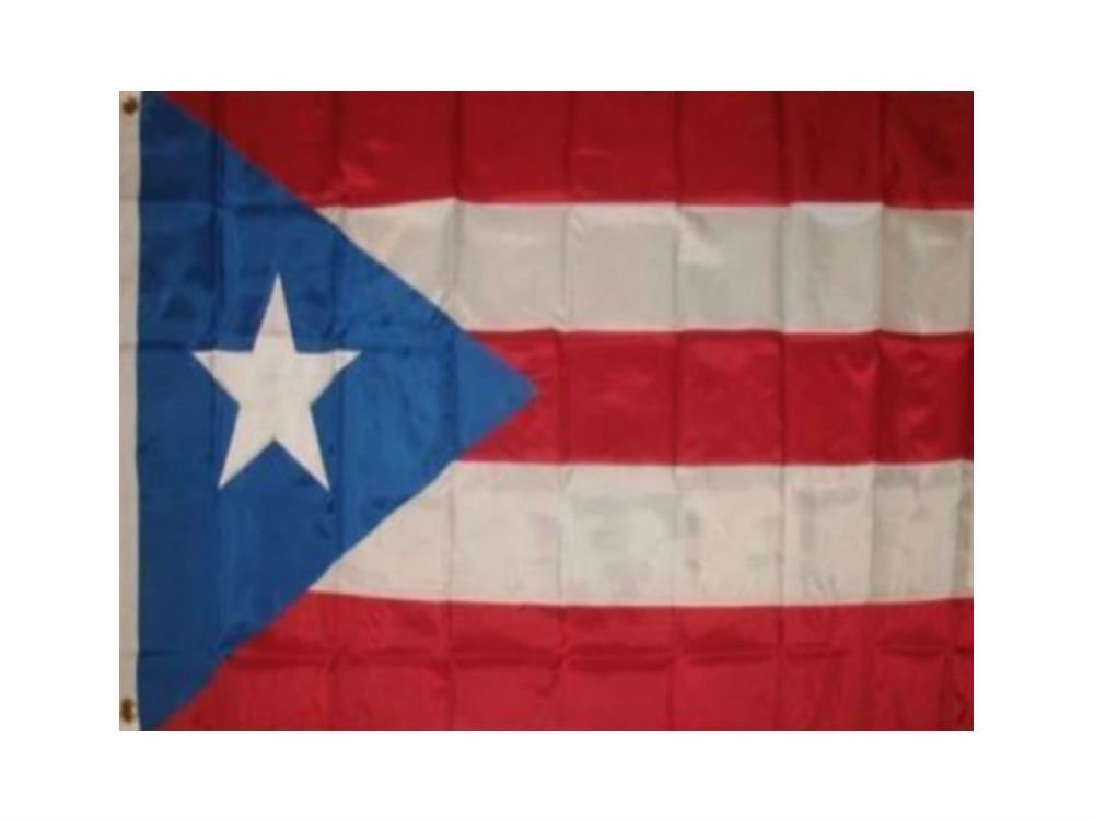 Puerto Rico Light Blue 10x15 Embroidered Sewn Synthetic Cotton Flag 10'x15' by AES