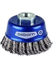 Osborn 6802608131 Potborstel voor haakse slijper, 115 mm, blauw