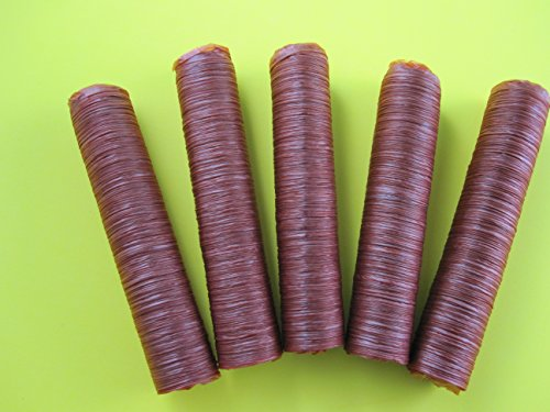 (17 mm SLIM snack stick casings for homemade snack Slim Jim sausage. Just add beef, venison, pork etc. ENOUGH Casings for 23 lbs of meat. 5 strands per pack)