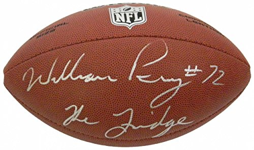 (William Perry Signed Football - Limited Full Size w The Fridge - Autographed Footballs)