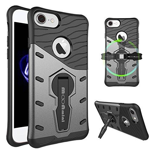 360 Degree Full Body Armor Case for Apple iPhone 7 (Black) - 6