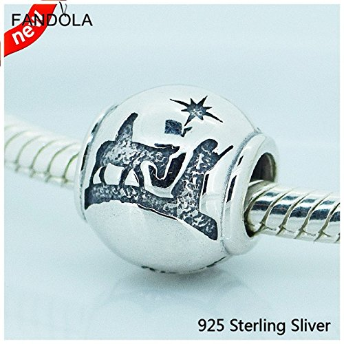 Compatible With Pandora Jewelry 100% 925 Sterling Silver Beads Charm of Fashion Night Genuine Clear CZ - 9.99 Fashion