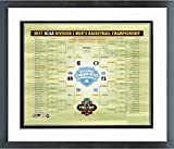 North Carolina Tar Heels 2017 NCAA Final Four Bracket Photo (Size: 26.5'' x 30.5'') Framed