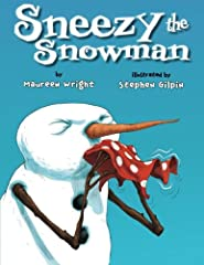 """B-R-R-R-R! AH-CHOO! Sneezy the Snowman is cold, cold, cold. To warm up, he drinks cocoa, sits in a hot tub, stands near a warm fire–and melts! But the children know just what to do to build him up again–and make him feel """"just right"""". Hilarit..."""