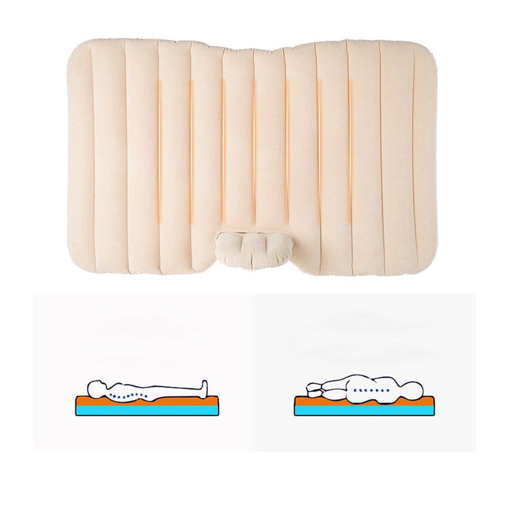 ZXQZ Auto-aufblasbares Bett-Erwachsenes bewegliches stoßfestes Luft-Bett SUV Auto-Hintere Reise-Bett-kampierendes Bequemes im Freienschlafende Auflage Aufblasbares Bett (Farbe : lila)
