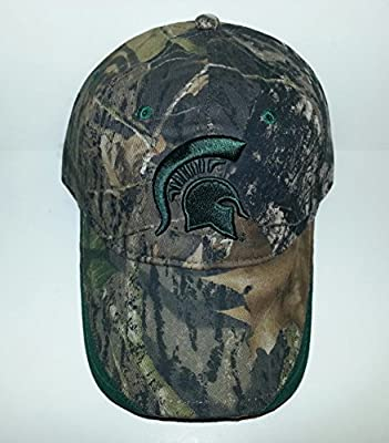 Michigan State Spartans Adjustable Velcro Hat 3D Embroidered Cap by Signatures.