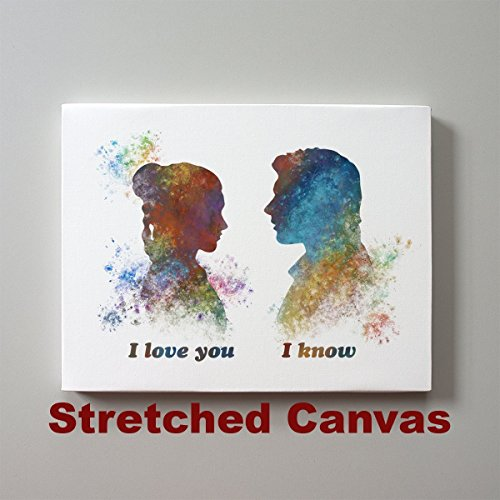 Star Wars I love you I know Han Solo and Leia 11 x 14 inches Stretched Canvas Print